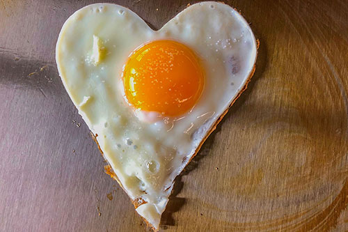 heart fried egg, especially for valantine's day
